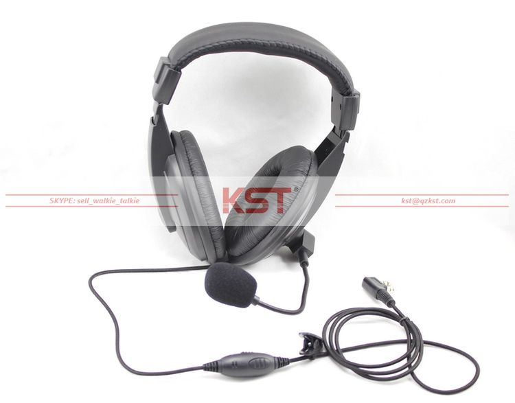 Anti-Noise Headset with PTT & VOX for Different Connector of various brands radios