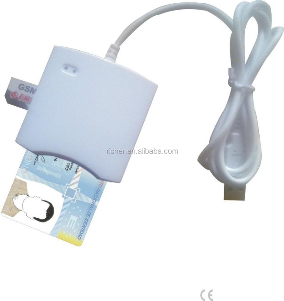 ISO 7816 USB Smart Card Reader Debit Card Reader and writer