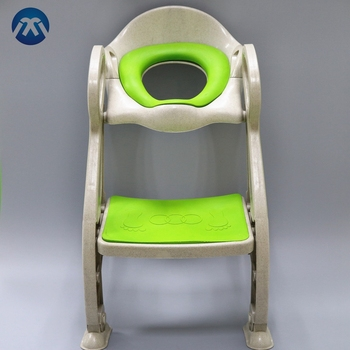 Best Quality Wheat Fibre Single Layer Kids Potty Training Seat With Ladder