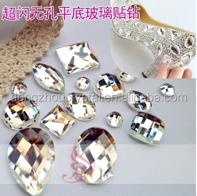 flat back mirror glass stones beads