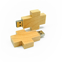 Hot sale wood cross Flash Drive Pen Drive USB 2.0 Memory Stick u disk