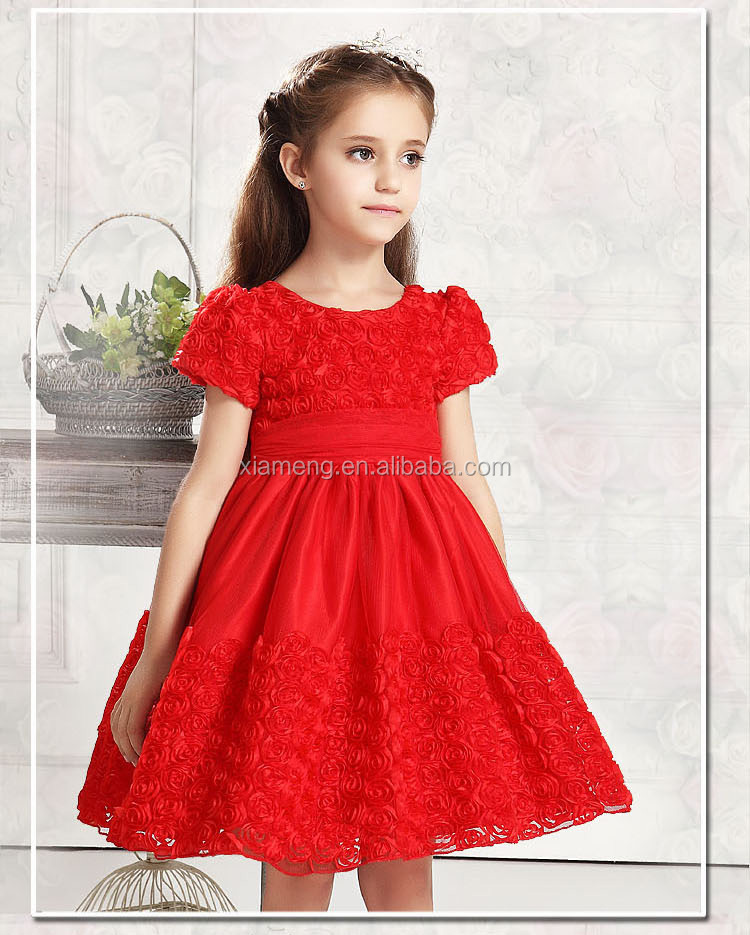 Christmas on sale!!indian girls puff sleeve short dress