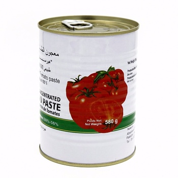 580g canned tomato paste in tin top quality concentration 26-28%