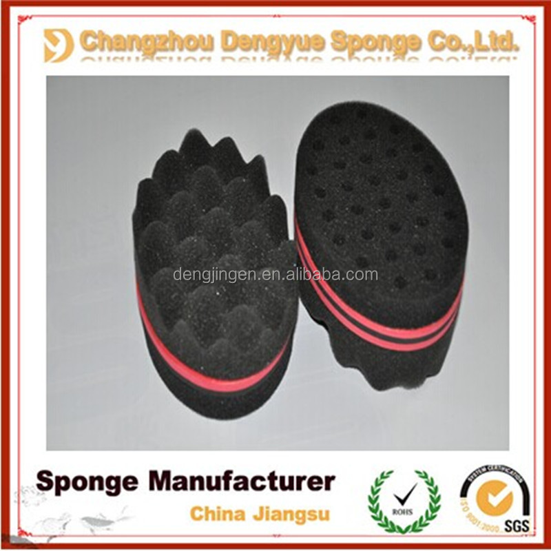 Double Sided Twists Barber Hair Sponge Foam Brush For Locking Afro Coils