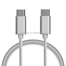 Alluminum nylon Braided USB 2.0 Type C to Type C Data Charging Cable for Apple New Macbook
