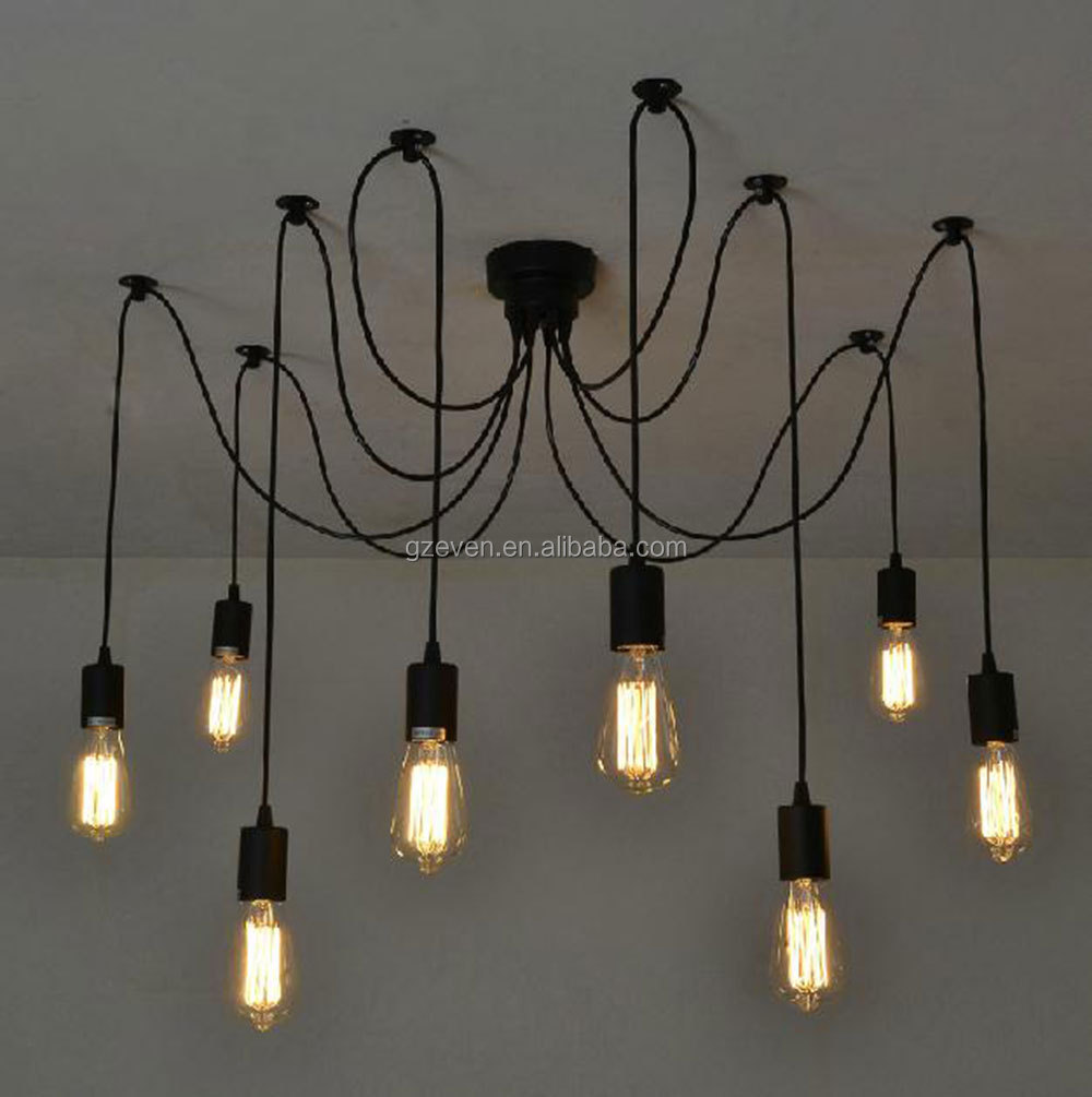 Antique Classic Diy Ceiling Spider Lamp Light Retro chanderlier Edison Pendant lights Industrial Lampshade Dining Lamp