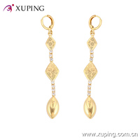 91199-xuping fashion jewelry 18k gold white samll stone eardrop earrings designs
