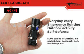 2014 newest Solarstorm SC03 aluminum waterproof cheap led mini flashlight