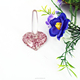 Murano Glass Ring Holder, Heart Shape Ring Jewelry Holder
