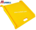 yellow portable plastic curb ramp for hand truck and wheeled carts