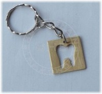 Brass with Tooth Cutout/Key chain