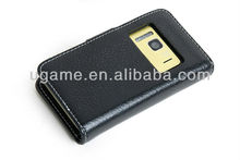 Simple design leather flip case for nokia n8, for Nokia N8 Cover Case with Windown