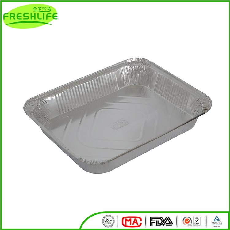 Unique style aluminum foil container household aluminum foil serving trays