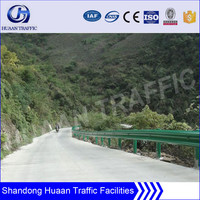 plastic spray steel country road crash barrier guardrail
