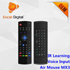 Newest product air mouse voice support games IR learning mini wireless keyboard MX3 2.4 GHz air mouse remote controller
