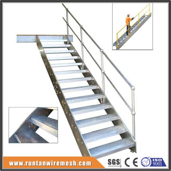 Galvanized outdoor fabricated commercial build metal stairs