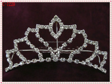 Silver rhinestone Bullet tiara for little girls