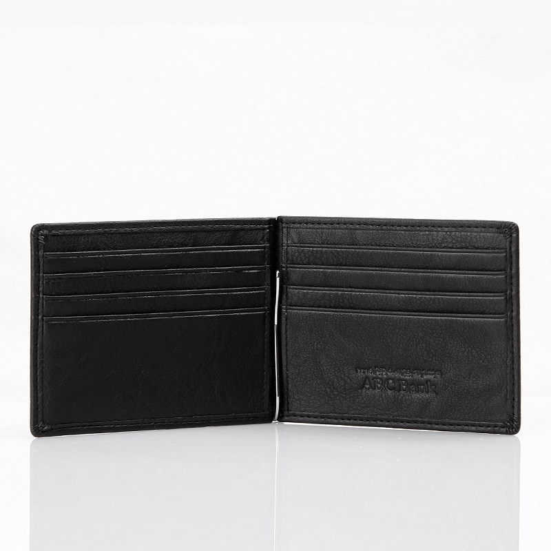 American wallet with money cash clip custom leather American wallet
