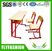 Crazy factory directly sale student double desk with chair/education furniture SF-21D