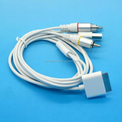 for iPhone iPod iTouch ipad 4G AV TV RCA cable + USB Cable 30 pin to rca cable