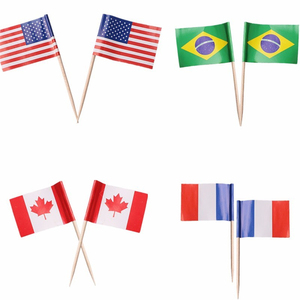 Party Supplier Birch Wood Toothpick flag for decoration cake pick flag