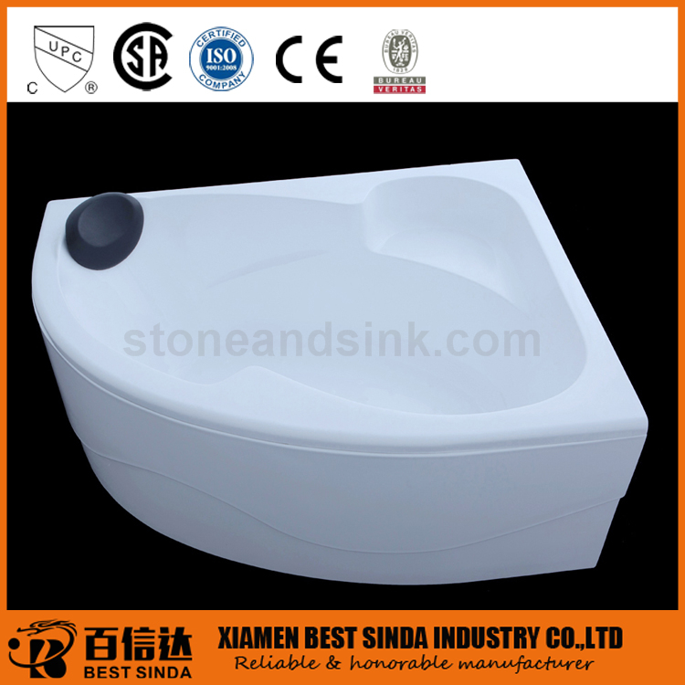 Wholesale acyrlic corner bathtub with panel