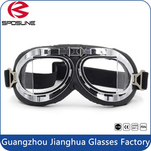 Aviator Pilot Cruiser Motorcycle Bicycle Scooter ATV Goggles Eyewear Clear Lens Flying Goggles
