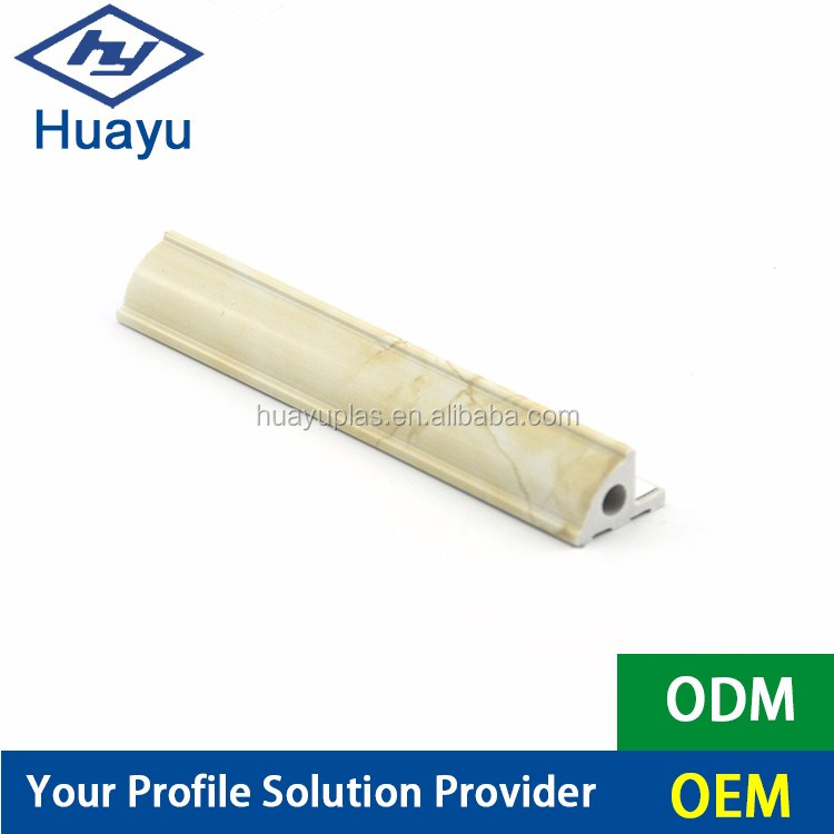 Recyclable Sound Insulation Plastic PVC Home marble Decorative Architrave line