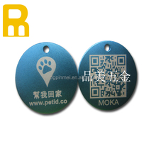 Best selling printing quick tag id tag for pets/ qr code id tags for dogs and cats
