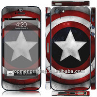Captain America's shield decorative reusable vinyl decal for iphone 5 reduce radiation mobile protector skins stickers