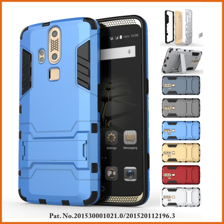 Iron bear hybrid rugged rubber case covers for zte axon phone