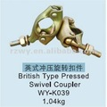 EN74 standard pressed scaffolding Swivel Coupler 360 degree scaffolding fittings