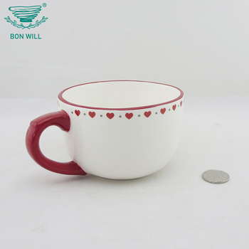 Custom embossed decal reusable christmas home goods eco ceramic tea coffee cup