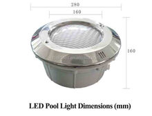 Stainless steel Decoration 12v 18w <strong>RGB</strong> ip68 Led Pool Light