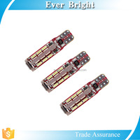 Red T10 socket canbus auto bulbs, 3014 smd canbus car led lighting, led for car