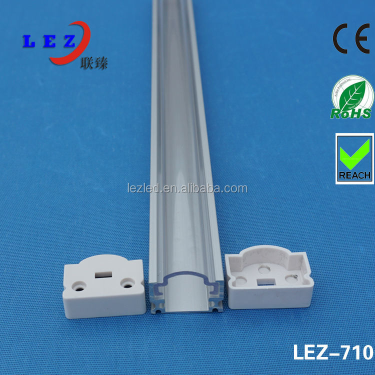 Hot selling 6063-T5 aluminium profile for led light strips with extrusion clear/diffuser pc cover for disply