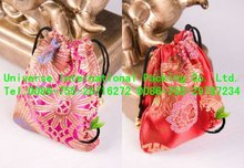 lovely mini Satin pouch with drawstring for gift