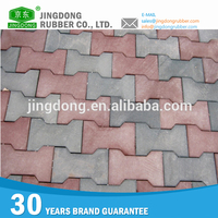 Quality rubber garage floor tile/playground rubber tile/plain rubber floor tile