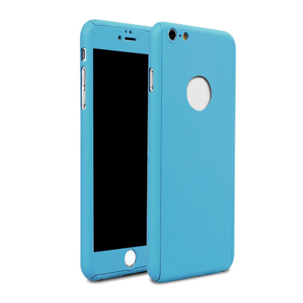 Ultrathin 2 in 1 Full Body Hybrid Acrylic Hard PC Case Cover for iPhone SE 5 5S + Tempered Glass Screen Film