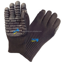Black Nylon Lined Black Foam Latex Rubber High Impact Industrial Glove Top Quality