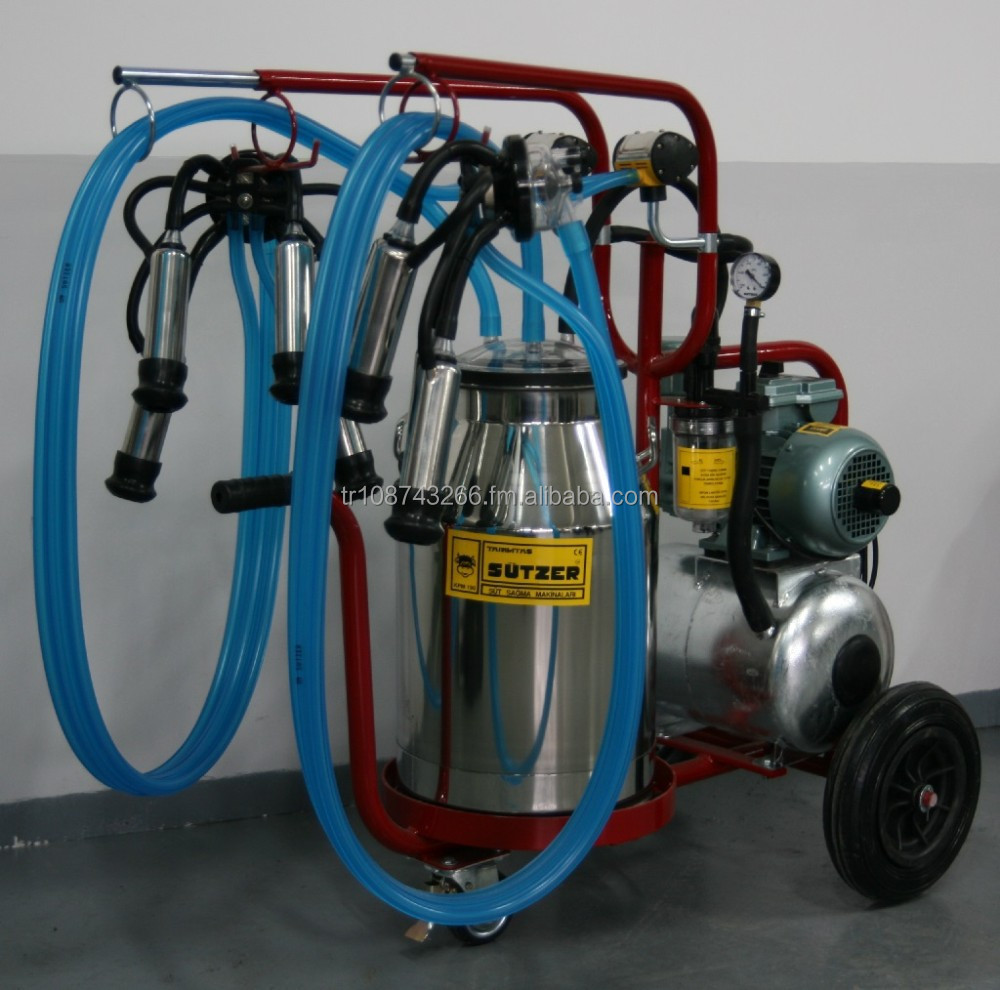 Double Unit Oil Pump Good Price Cow Milking Machine