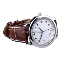 Classic Fashion Unisex Leather Strap Cheap Anticlockwise Watch