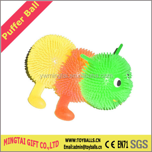 Animal Caterpillar Worm Shape Puffer Ball Toys