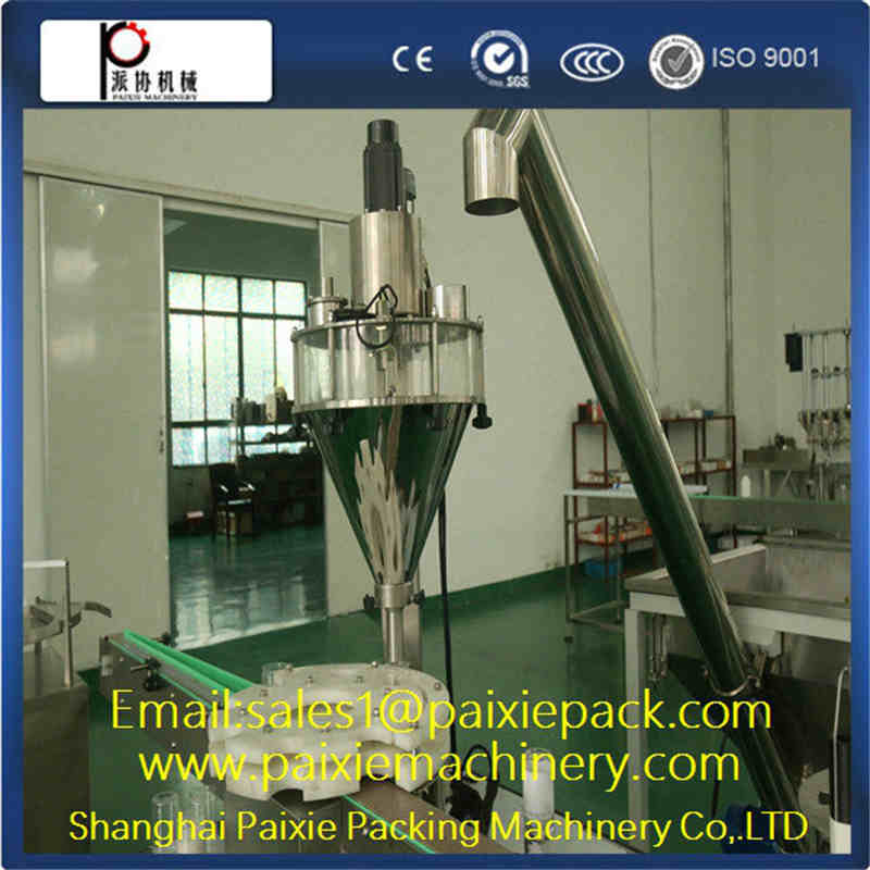 semi-automatic milk and coffee powder filling machine for auger filler machine
