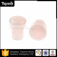 Toposhbodyjewelry Rose Quartz Stone Ear Plug