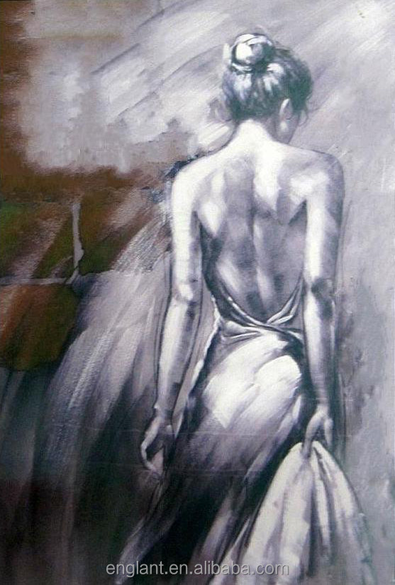 Sexy dancer female nude oil painting
