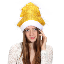 SJ018-1 Christmas Customize Color Filar Polyester Plush Balls X'mas Tassels Yellow Trees Decor Hats