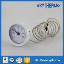 industrial using hydraulic capillary thermometer hot water temperature gauge