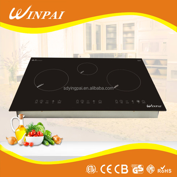 OEM Touch Sensor 3 Induction Plate Built-in Induction Cooktop For Sale