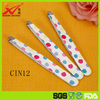 Colorful round tip shape cover eyebrow tweezer in beauty salon